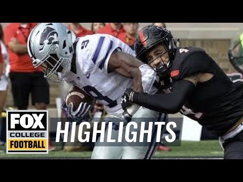 Kansas State vs Texas Tech | Highlights | FOX COLLEGE FOOTBALL