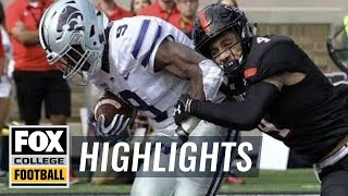 Kansas State vs Texas Tech   Highlights   FOX COLLEGE FOOTBALL