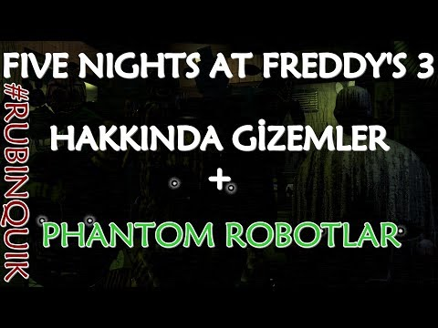 Türkçe - Five Nights at Freddy's 3 Hakkında Gizemler - #RubinQuik thumbnail