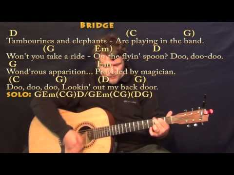 Lookin' Out My Back Door (CCR) Strum Guitar Cover Lesson in G with Chords/Lyrics