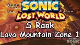 Sonic Lost World - Lava Mountain Zone 1 - S Rank