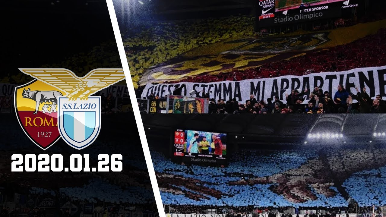 Roma vs Lazio 1-1 | Tifo - Coreografia Derby Della ...