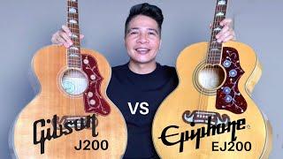 Gibson J200 vs Epiphone EJ200 | Sound Comparison