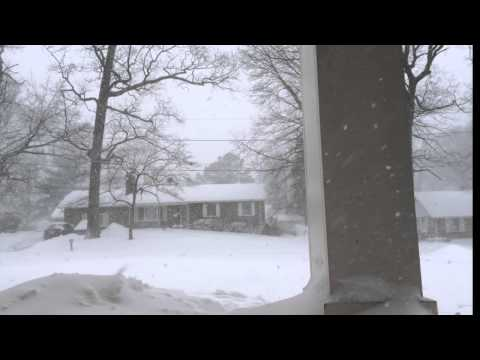 Snowstorm in the suburbs of Washington DC