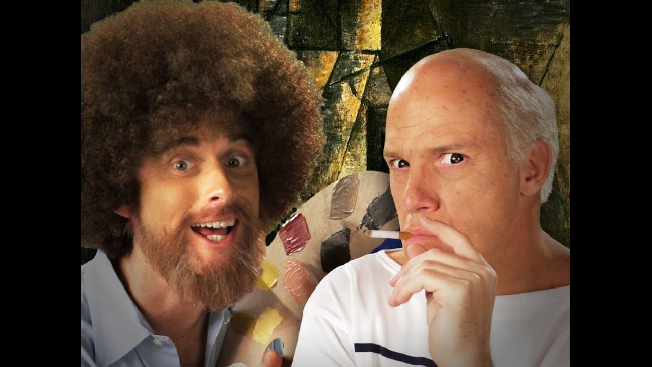 Bob Ross vs Pablo Picasso. Epic Rap Battles of History