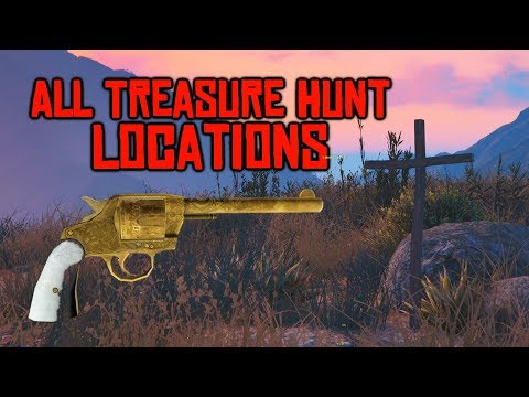 ALL TREASURE HUNT LOCATIONS TO UNLOCK THE RDR2 REVOLVER IN GTA 5!