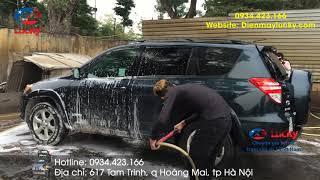 Máy rửa xe cao áp 2200PSI của Lucky rửa xe cực kì nhanh chóng tiết kiệm chi phí thời gian