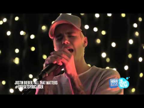 Justin Bieber - All That Matters (live acoustic) HD