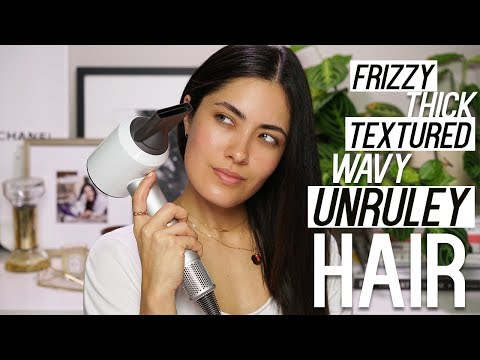 How to Easily Blow Dry Textured Hair | Dyson Hair Dryer | Melissa Alatorre