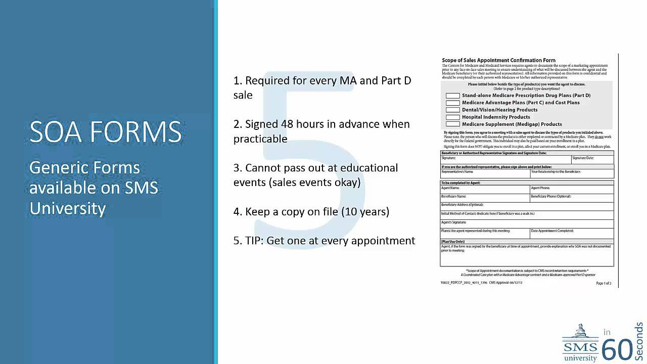 SMS University Scope of Appointment Forms - YouTube
