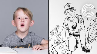 Desmond Describes His Dream Job To An Illustrator | Kids Describe | HiHo Kids