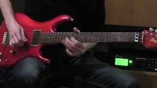 Jonas Tamas: River Of Melodies solo - Axe FX II & Ibanez JS-1200 Joe Satriani signature guitar