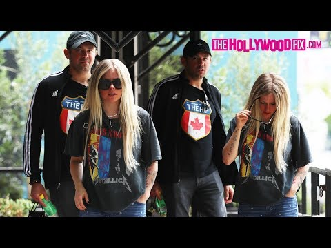 Avril Lavigne & Her Billionaire Boyfriend Phillip Sarofim Go Shopping At Couture Kids On Robertson