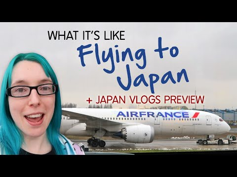 FLYING TO JAPAN With Air France
