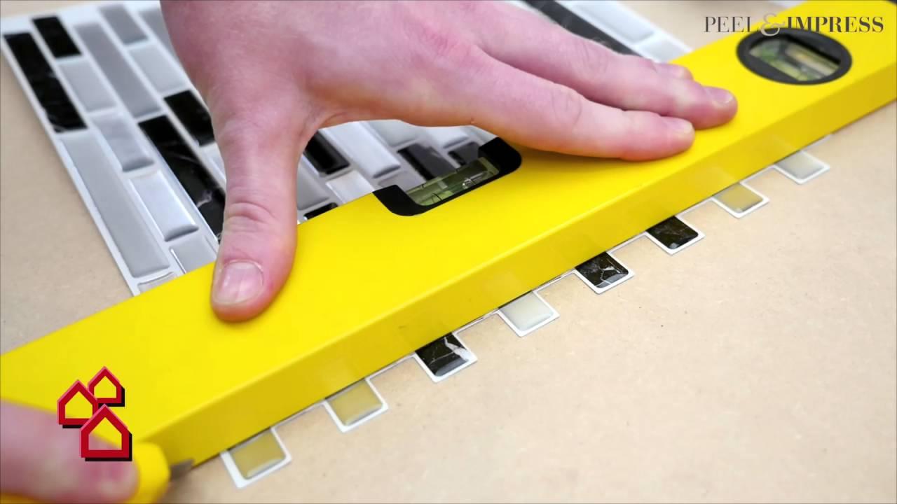 Selbstklebende VinylMosaikmatte Peel Impress Für Bäder - Vinyl matte fliesen