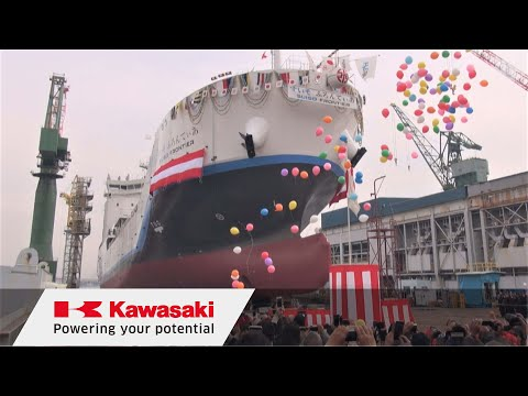 Kawasaki launches the world's first liquid hydrogen transport ship