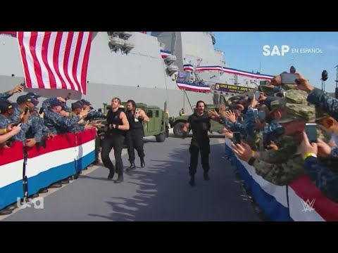 The Shield tribute to the troops Entrance 2017