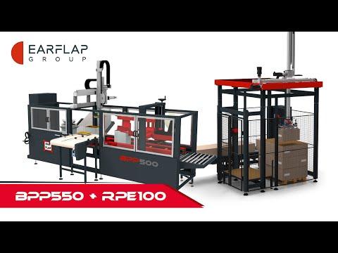 CASEPACKER | LINEA DE FORMADO, ENCAJADO, CERRADO Y PALETIZADO  // EAR-FLAP® BPP SERIES + RPE100
