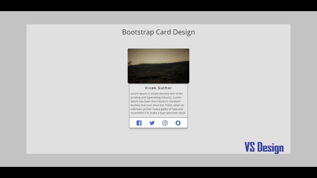 Card design using bootstrap