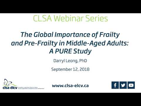 The Global Importance of Frailty and Pre-Frailty in Middle-Aged Adults