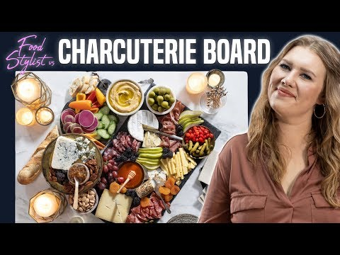 Food Stylist Shows How to Make A Beautiful Charcuterie Board | Meat and Cheese Board for New Year's