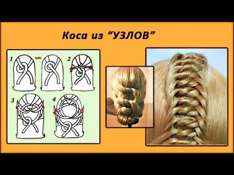 схема плетения косичек для
