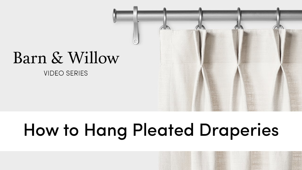 how to hang pleated draperies youtube. Black Bedroom Furniture Sets. Home Design Ideas