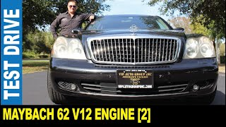 2005 Maybach 62 [Part 2] a drone follows the limousine V12 engine   Jarek in Clearwater Florida USA