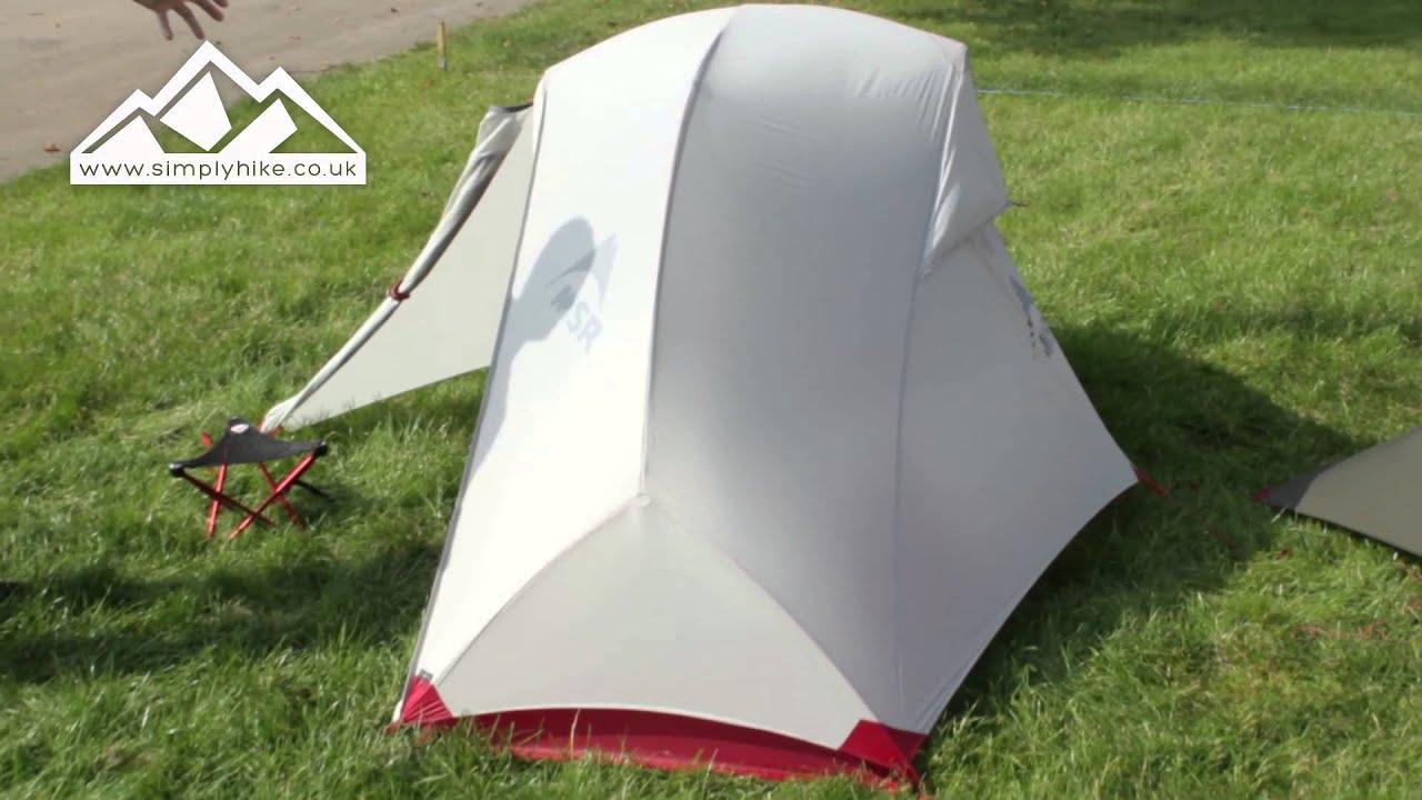 & MSR Hubba NX Tent - www.simplyhike.co.uk - YouTube