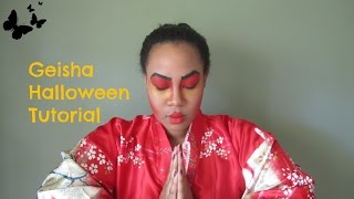 Geisha Girl Halloween Makeup Tutorial + Costume