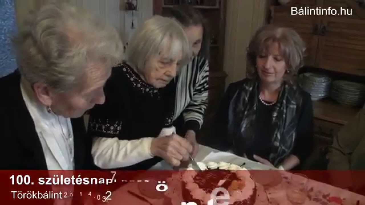 100 születésnapi köszöntő Törökbálint: 100. születésnapi köszöntés   YouTube 100 születésnapi köszöntő