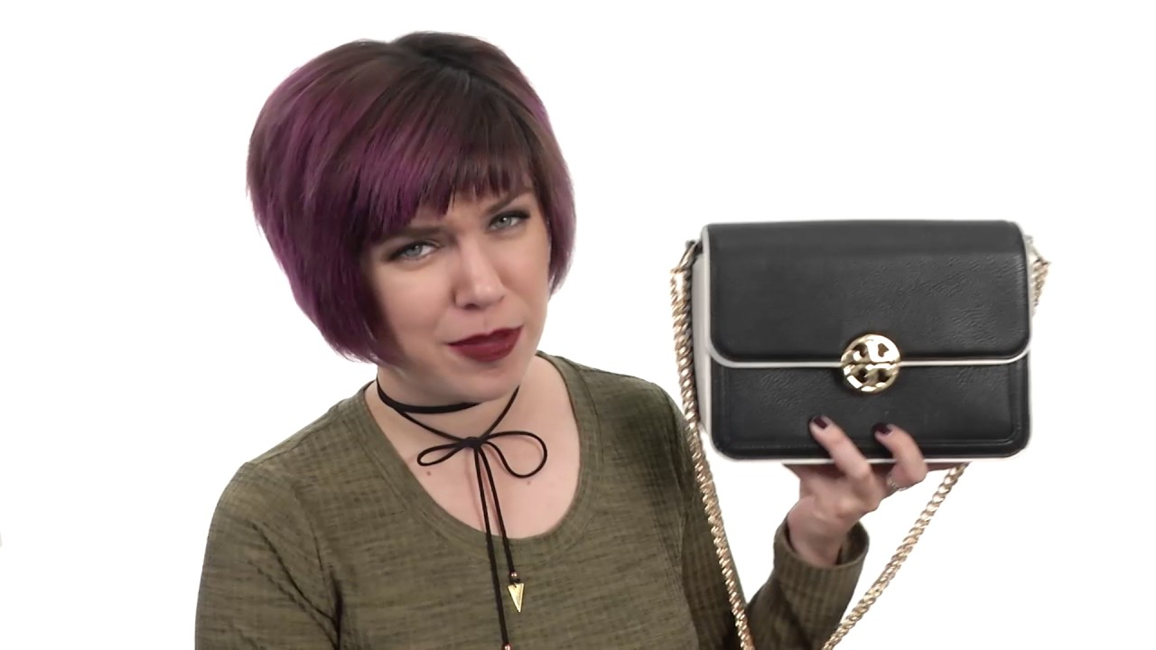 36233d32997 Tory Burch Duet Chain Convertible Shoulder Bag SKU 8814703 - YouTube