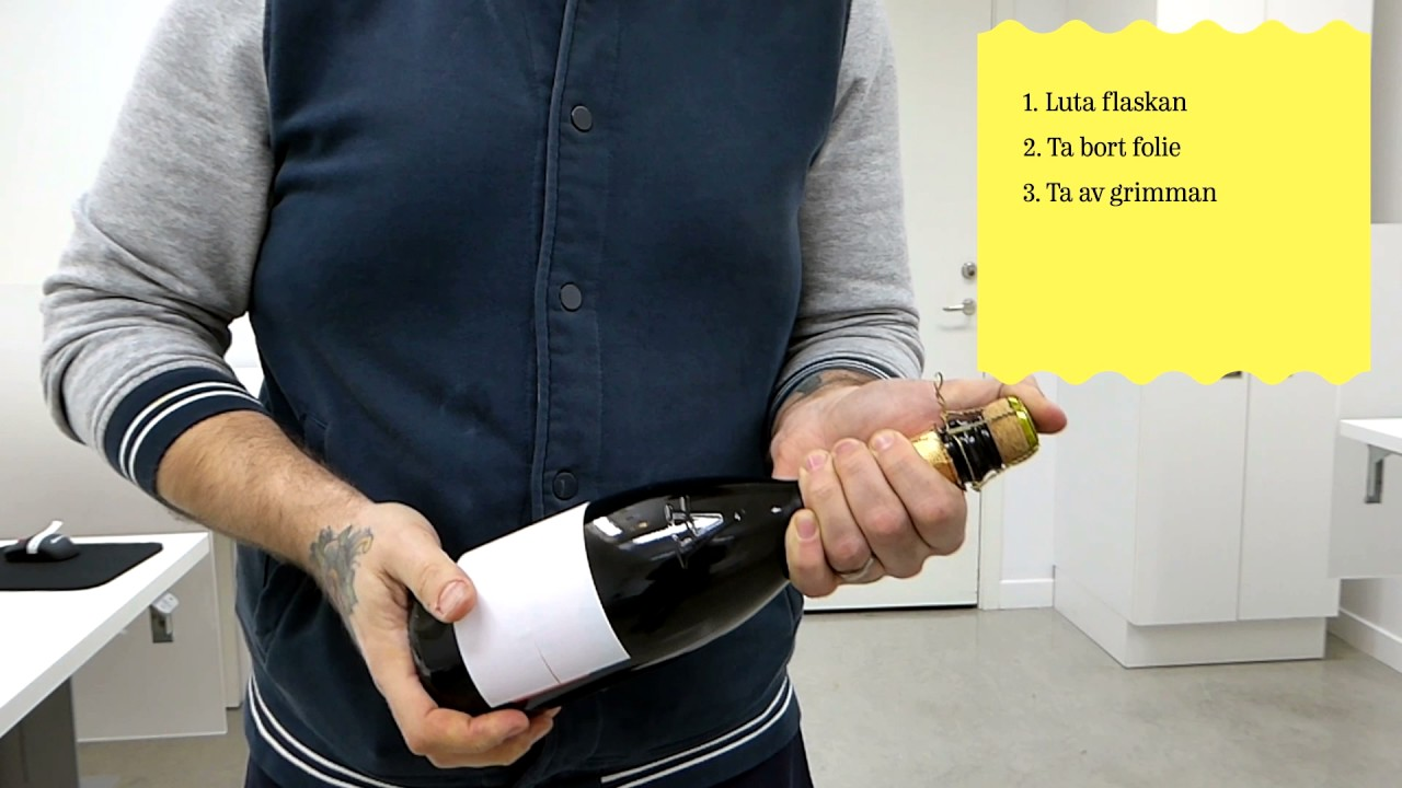 öppna champagne