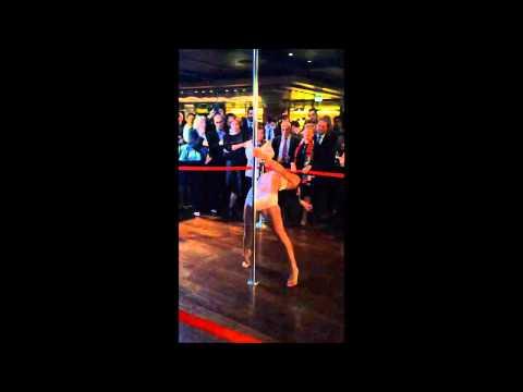 Pole Dance at the Cafe Llorca Monaco