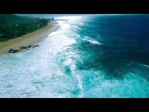 DJI Phantom 3 - Banzai Pipeline, North Shore Oahu Hawaii - 60 FPS HD Drone Aerial Footage