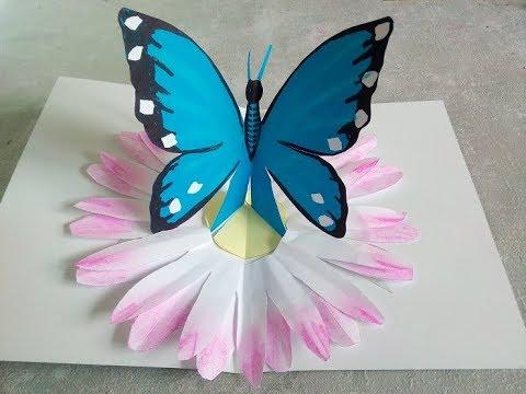 Diy Tutorial Para Hacer Tarjeta Pop Up De Mariposa Para El Día De La Madre