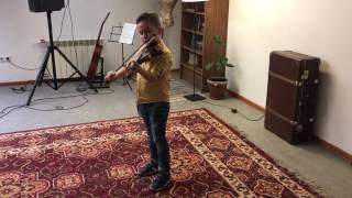 Первое выступление. Результаты двухмесячного обучения игры на скрипке.