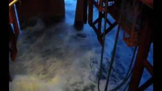 North Sea Rig in BIG storm
