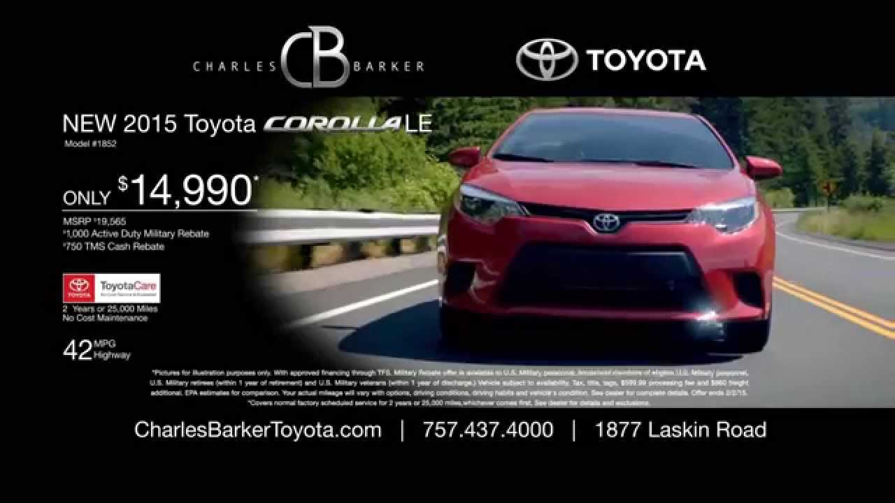 Ride With Charlie Today In A Toyota Corolla Or Camry At Charles Barker  Toyota | Virginia Beach, VA