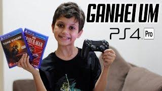REACTION: GANHEI UM PS4 PRO + JOGOS DE PRESENTE DE NATAL ANTECIPADO!! Gustavo TV