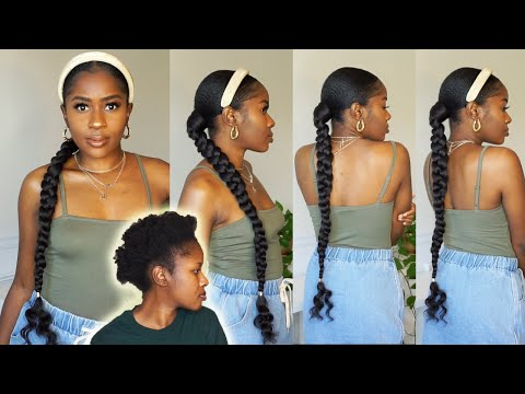 beginner-friendly:-how-to-do-a-long-sleek-curly-braid-ponytail-on-short-4c-natural-hair!!!|mona-b.