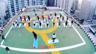 Sunrise Yoga from The Skyline, 7 August 2016, Helipad Grand Sahid Jaya Hotel