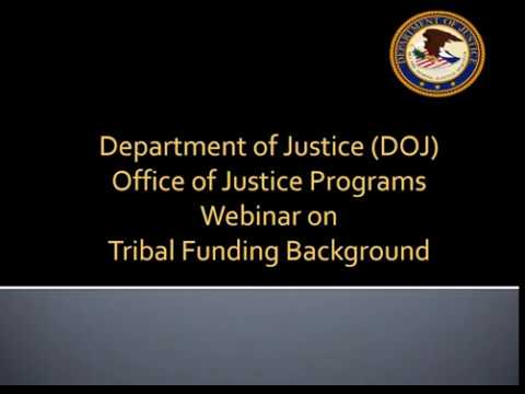 Webinar on Tribal Funding Background