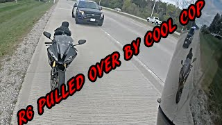 R6 PULLED OVER BY COOL COP FOR SPEEDING