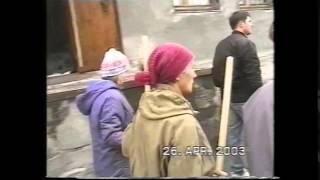 """г. Асбест Церковь """"Любовь Христа"""".Субботник 2003 год."""