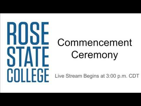 Rose State College Graduation - 3 P.M. Ceremony