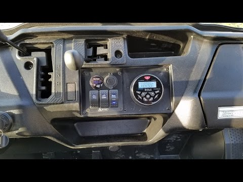 Honda Pioneer 1000 Custom Stereo Installation Boss MGR350B Pyle PLMR91UB