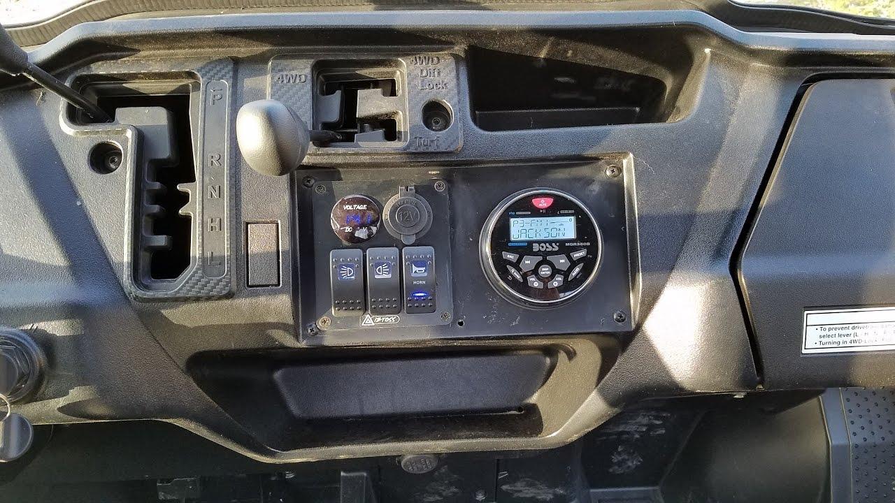 Boat Light Wiring Diagram Honda Pioneer 1000 Custom Stereo Installation Boss Mgr350b