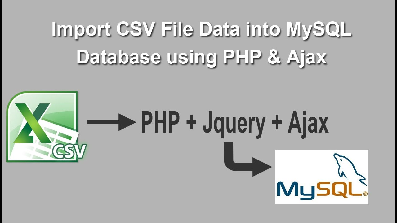 Import CSV File Data into MySQL Table using PHP & Ajax