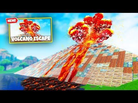 ESCAPE THE VOLCANO Custom Gamemode in Fortnite Battle Royale